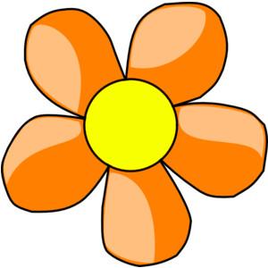 Orange Flower clipart orange things Orange Polyvore Orange clip art