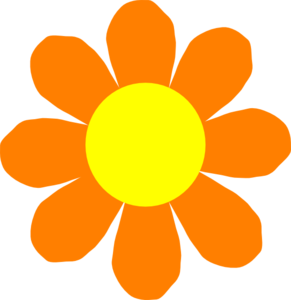 Orange Flower clipart orange things At and Flower clipart orange