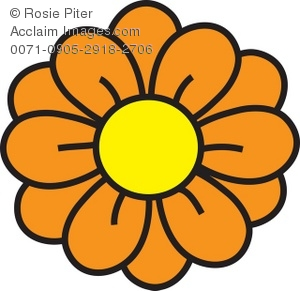 Orange Flower clipart orange things Flower Yellow Illustration flowers and