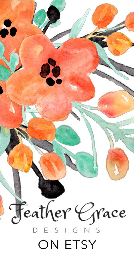 Orange Flower clipart orange things Flowers Clipart creative Feather