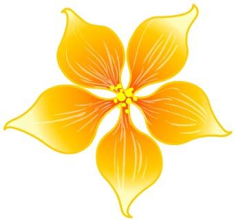 Petal clipart small flower Clip blossom clipart clip art