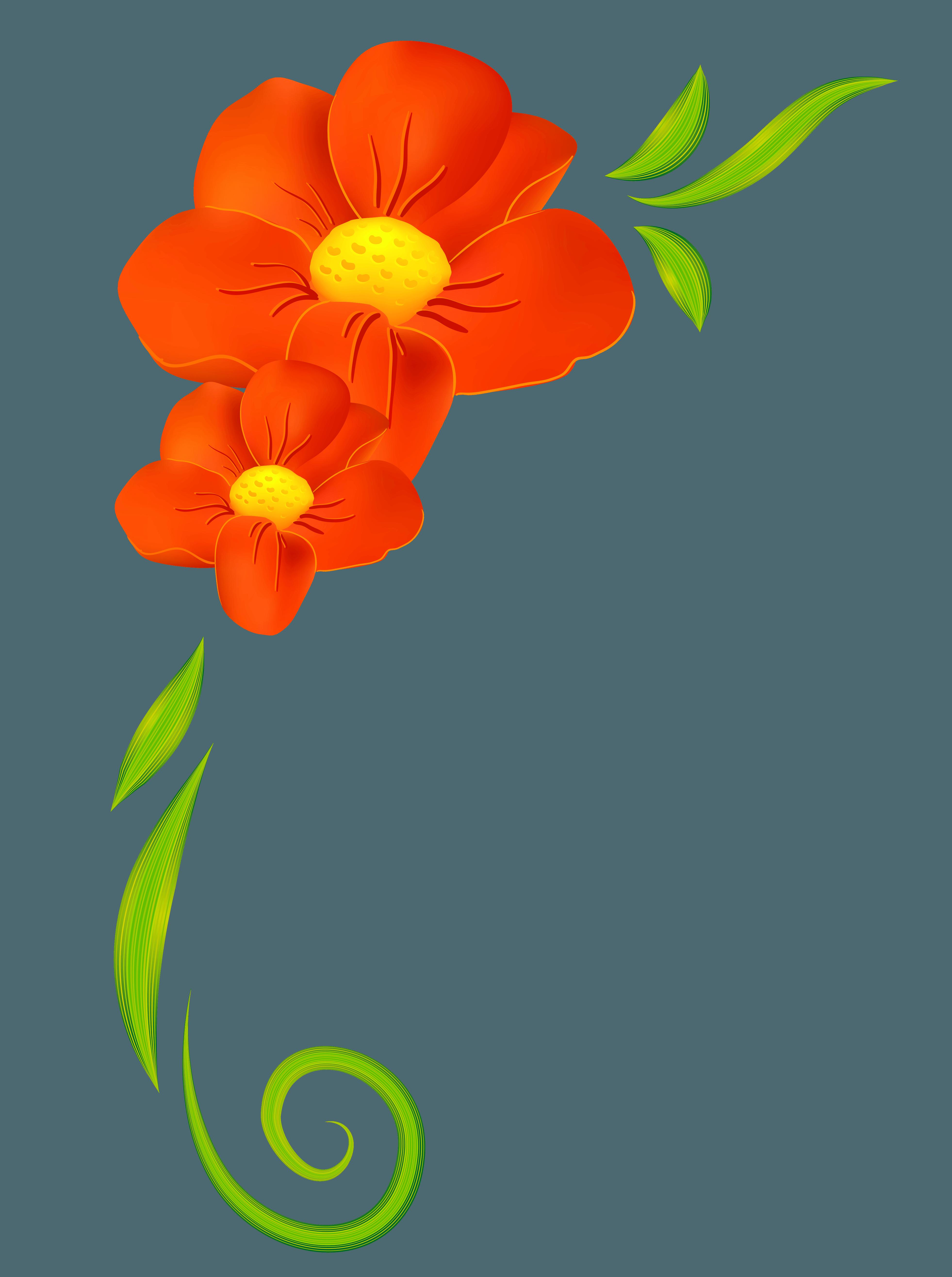Orange Flower clipart small flower SouthTracks Images Orange Images Orange