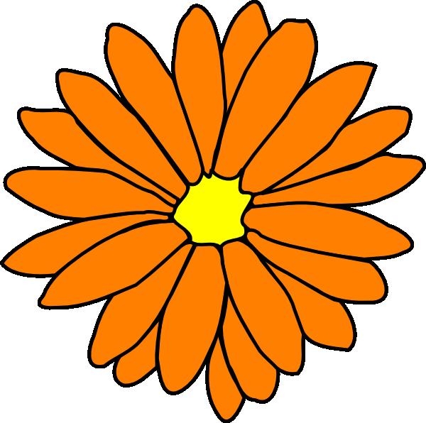 Orange Flower clipart small flower Clip Clker  · ·