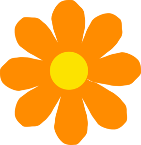 Orange Flower clipart transparent Vector Art Clip Orange clip