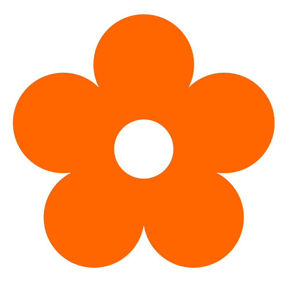 Orange Flower clipart transparent Original Art Orange  Clipart