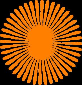 Orange Flower clipart transparent Clker Orange vector at clip