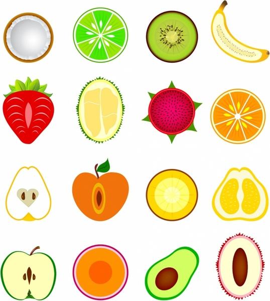 Orange (Fruit) clipart  half clipart vector) (6