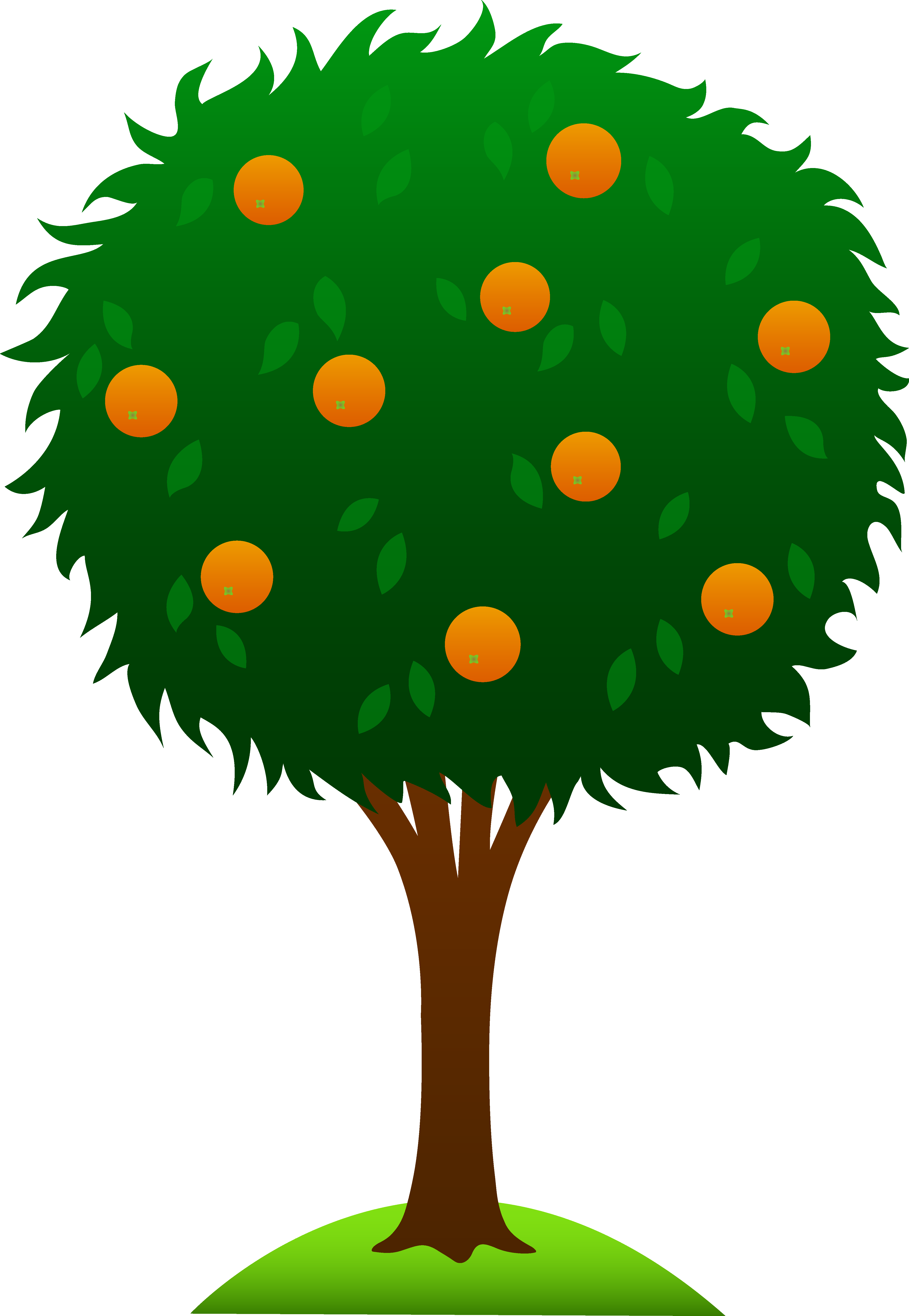 Cherry Tree clipart caricature Tree Clip Orange Sweet Sweet