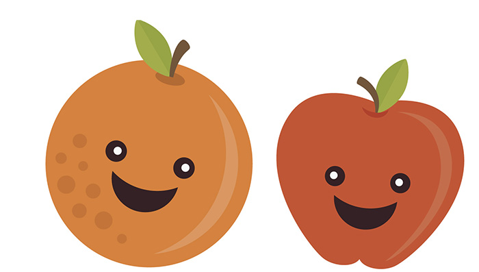 Orange (Fruit) clipart cartoon  Kids Apples Happy Health