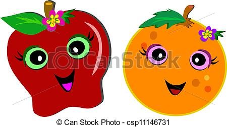 Orange (Fruit) clipart apples and orange A This Happy Happy Couple