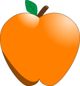 Apple clipart colorful Clip Clker Art Orange online