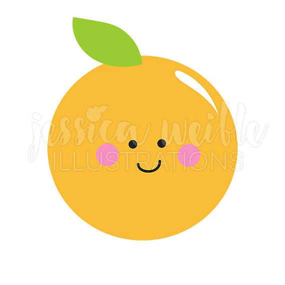 Orange (Fruit) clipart cute Kawaii #1742 Clipart Cute art