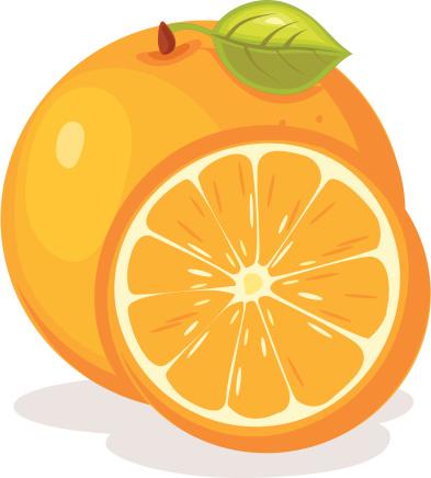 Orange (Fruit) clipart cute Orange id164565439 illustration vector illustration
