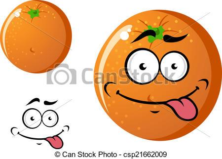 Orange (Fruit) clipart cute Happy  fruit cartoon smiling