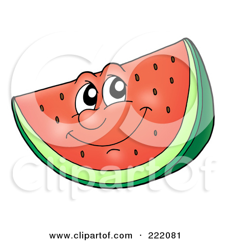 Watermelon clipart funny Prints Art Smiling Watermelon Cartoon