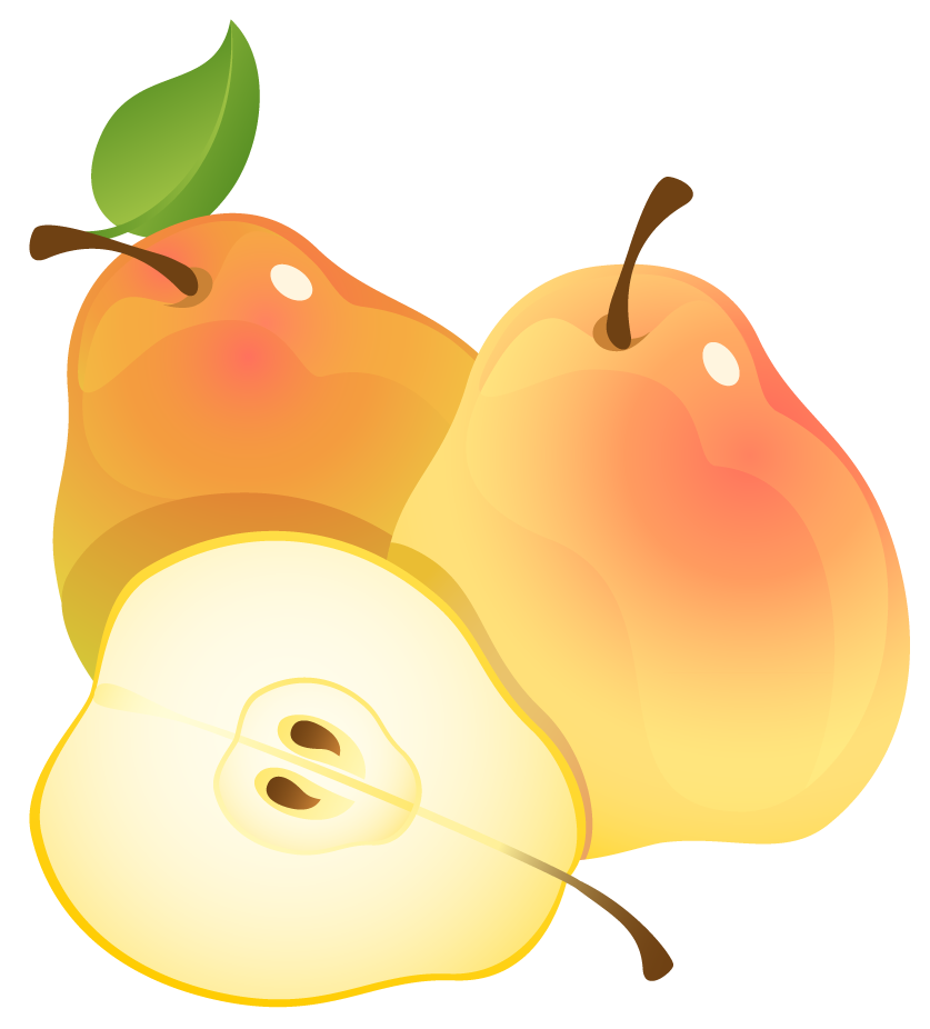 Pear clipart fruite View Yopriceville full size Painted