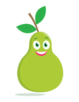 Pear clipart fruite Pear Clip Character Clipart 64