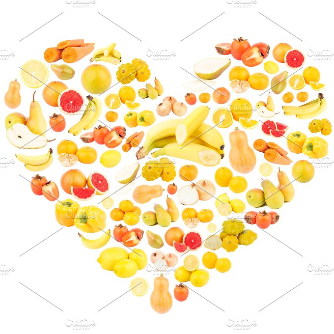 Orange (Fruit) clipart shape Yellow fruits yellow shape of
