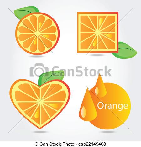 Orange (Fruit) clipart shape Of vector of  on