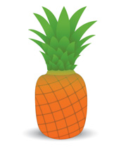Pear clipart single fruit Fruits Graphics Illustrations pineapple Art