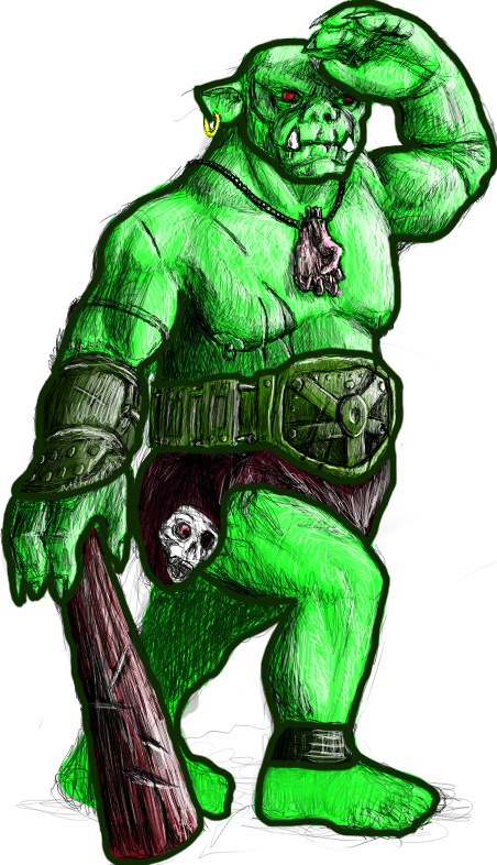 Orc clipart #3