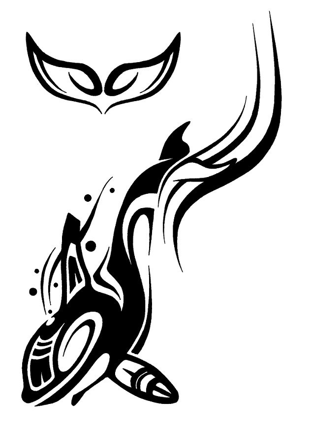 Orca clipart tribal Google Search Google ink tattoos