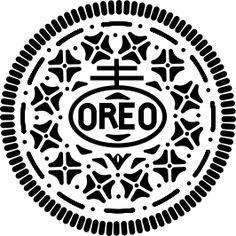 Oreo clipart black and white Art Oreo on TO Free