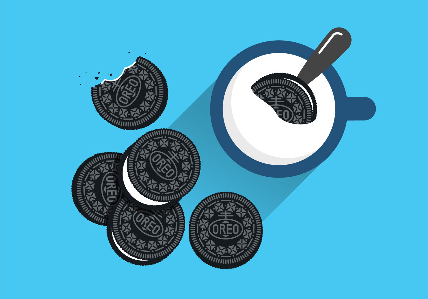 Oreo clipart vector 11 Free Milk Art Vector