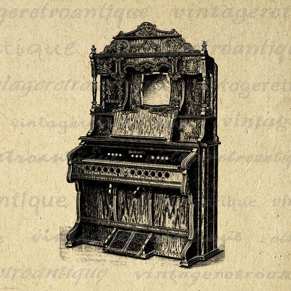 Organs clipart antique Download HQ Eps Vintage Graphic