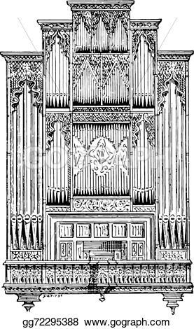 Organs clipart engraving  engraved gg72295388 Art 1895