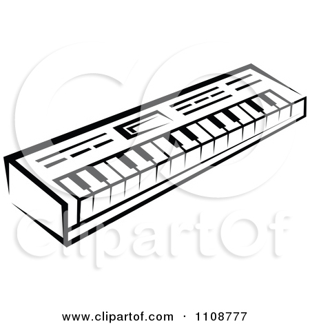 Drawn musical piano White Black graphics And Musical