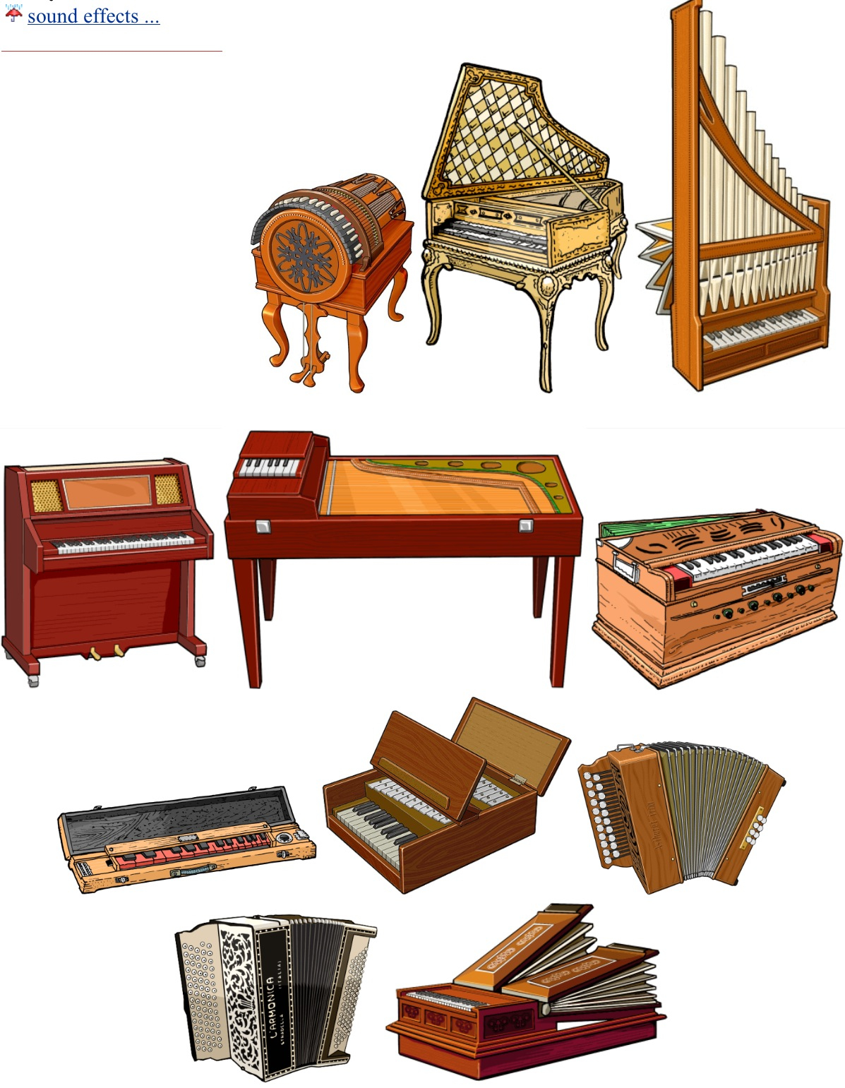 Organs clipart keyboard instrument /right  up/ up/ KEYBOARDS