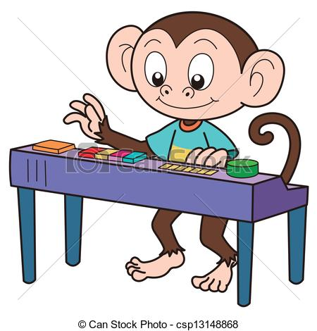 Organs clipart organist  Electronic Art Cartoon Organ
