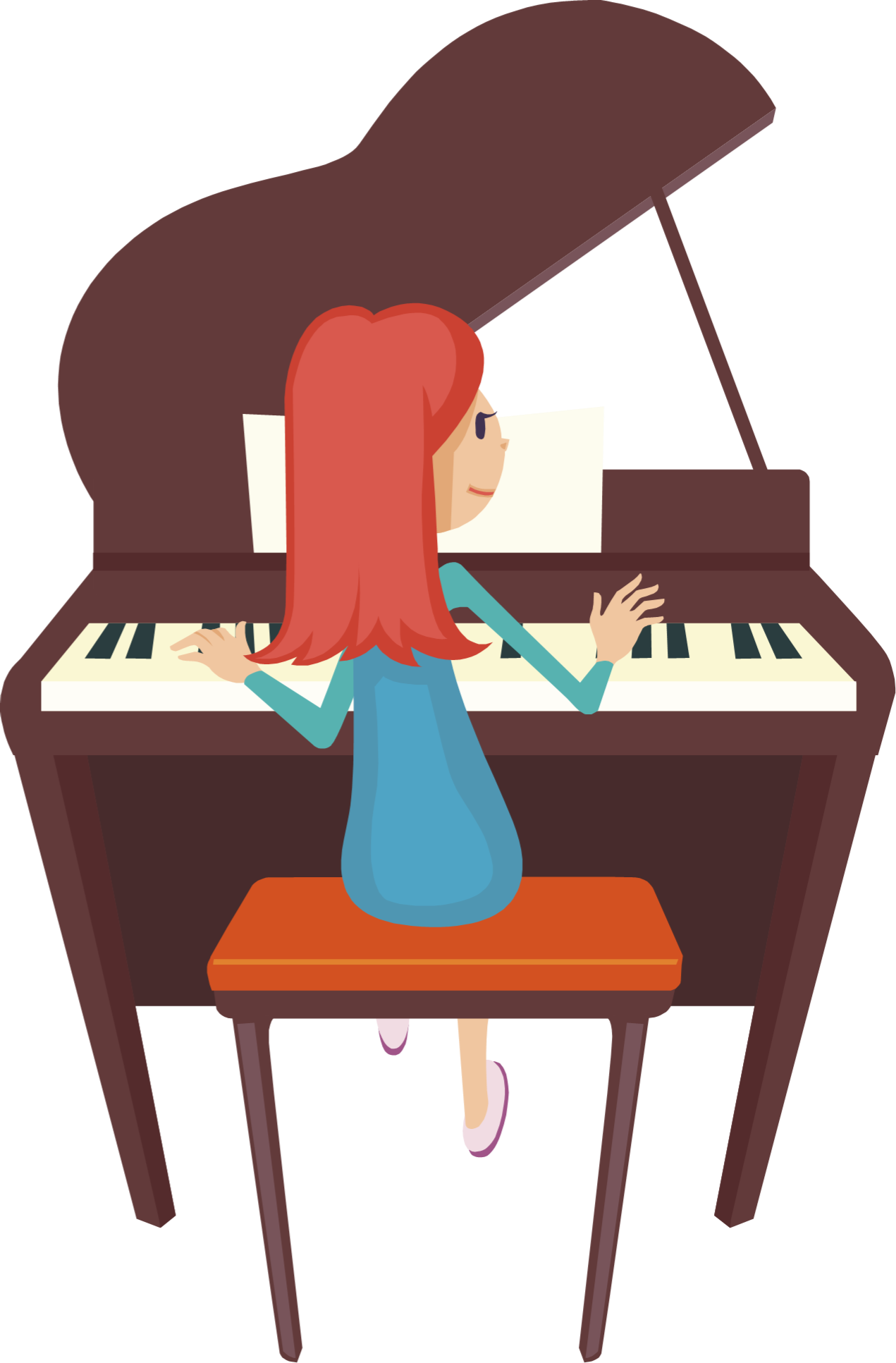 Woman clipart pianist Clipart Related playing Cliparts keys