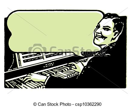 Organs clipart vector  playing of piano playing