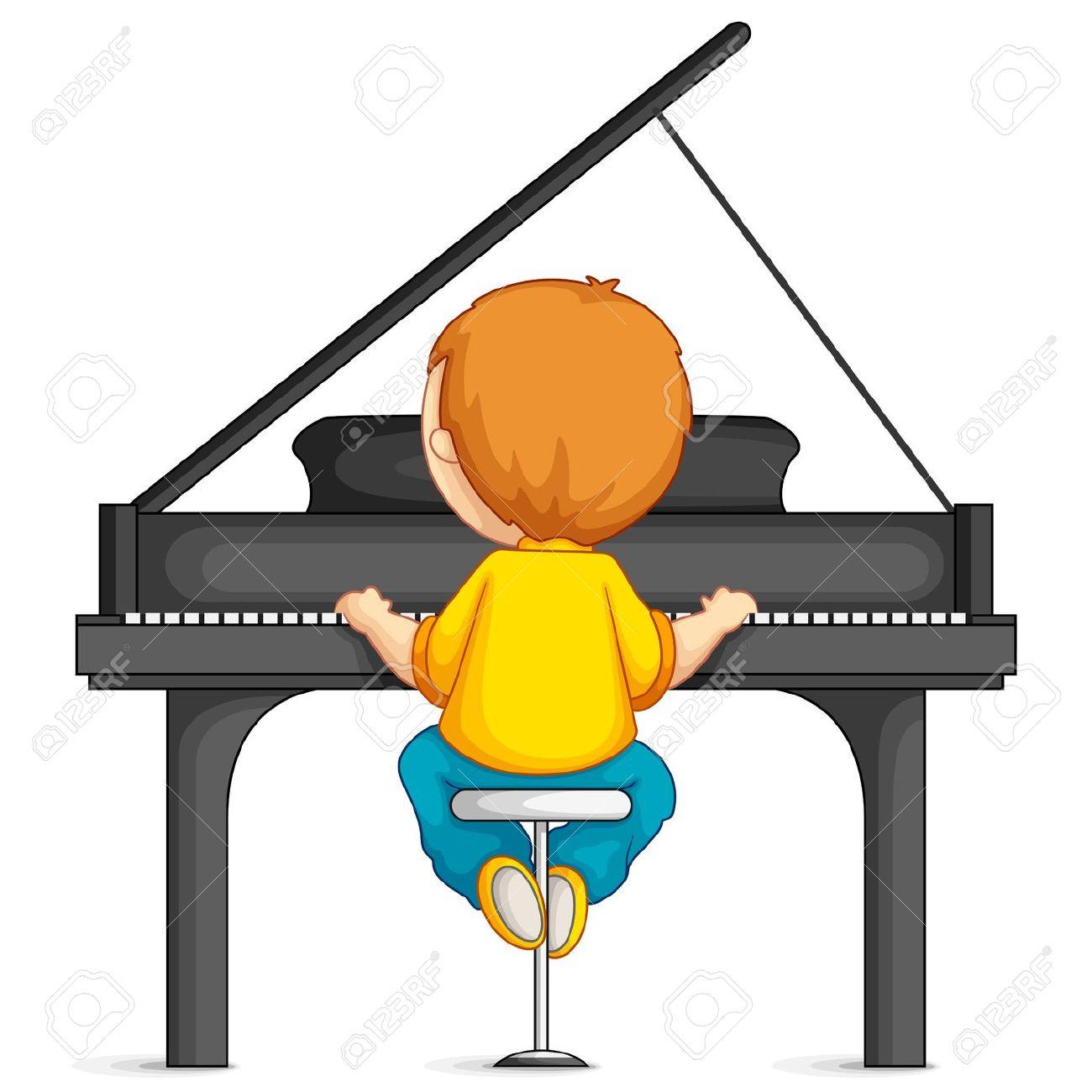 Piano clipart cartoon Boy Piano Playing Clipart cliparts