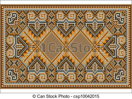 Oriental clipart rug Rug brown brown  Picture