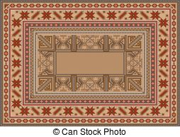 Oriental clipart rug EPS Oriental original  clip