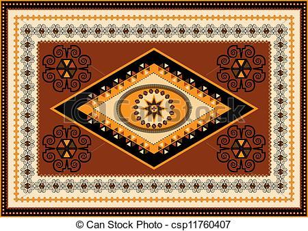 Oriental clipart rug Oriental csp11760407 Clipart oriental Vector