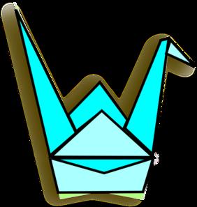 Origami clipart Vector online com art Crane