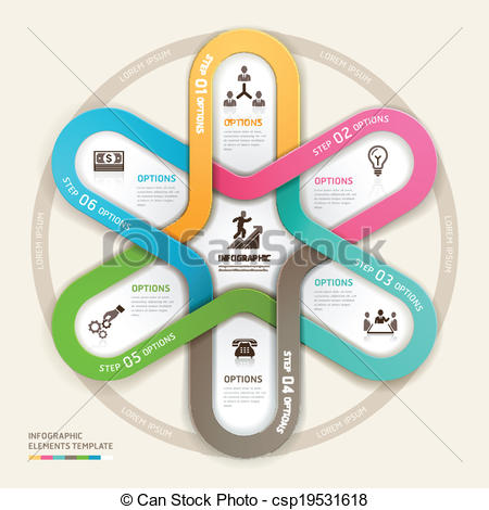 Origami clipart circle Business  csp19531618 plan Business