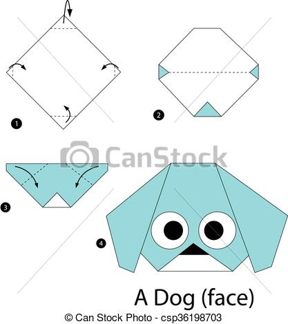Origami clipart dog #2