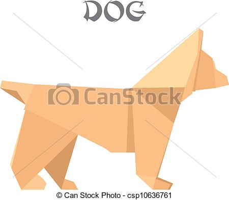 Origami clipart dog #1