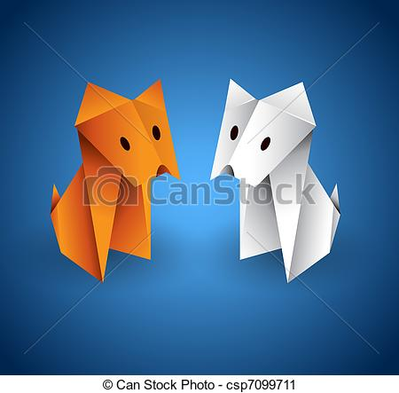 Origami clipart dog #6