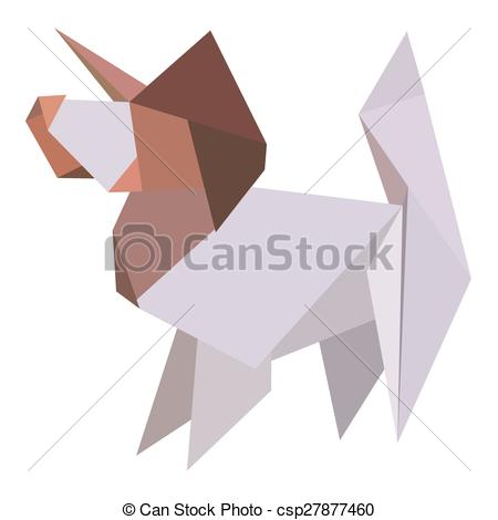 Origami clipart dog #7