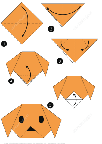 Origami clipart dog #3