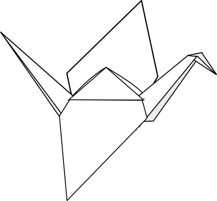 Japanese Crane clipart Clip Japanese Origami art Clipart