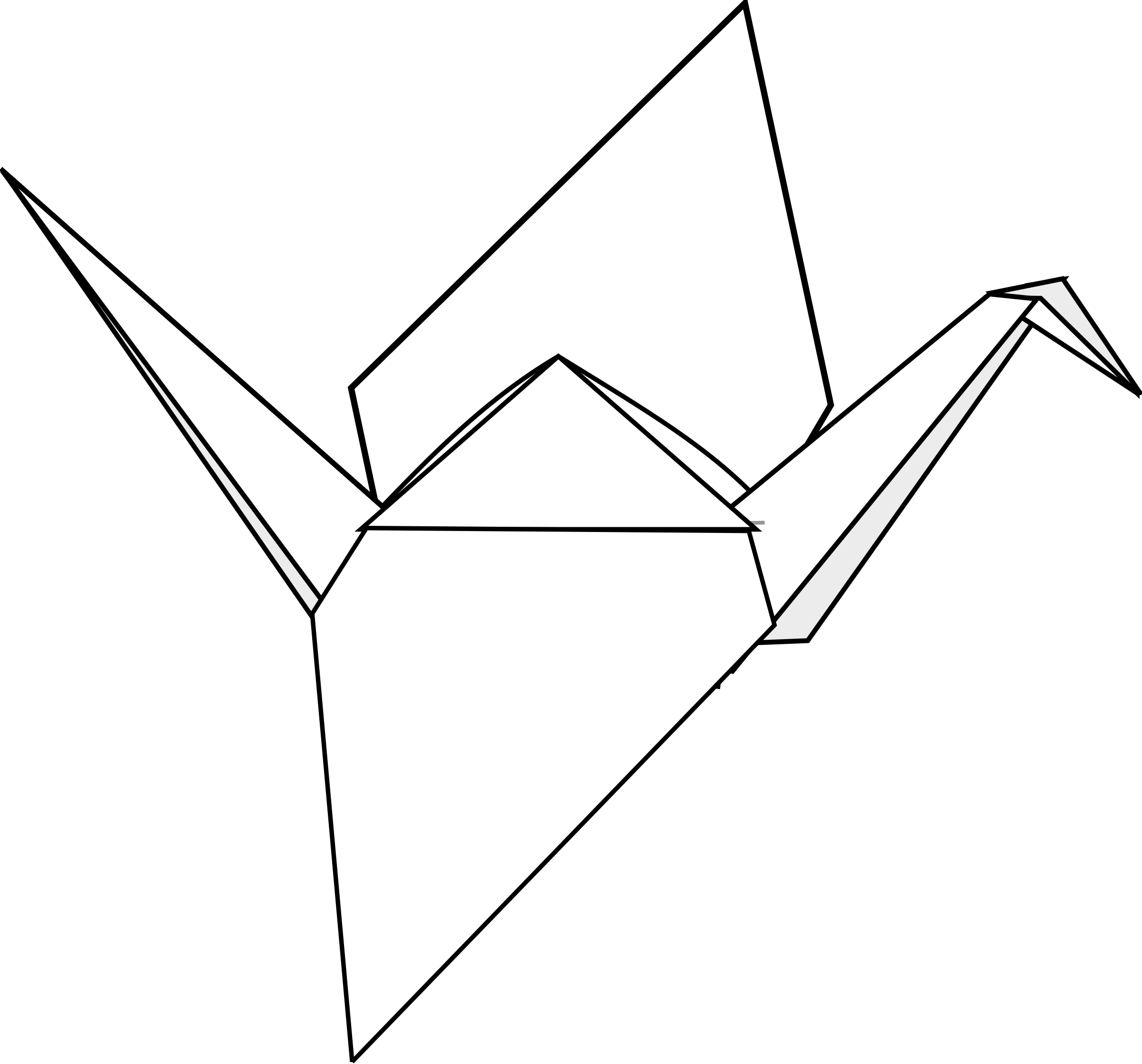 Japanese Crane clipart Origami Crane Origami Crane Clipart