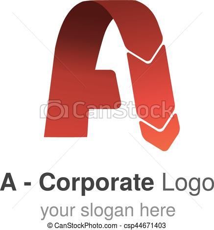 Original clipart logo design Red font Letter logo A