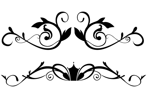 Floral clipart black and white Image Ornamental on border Free